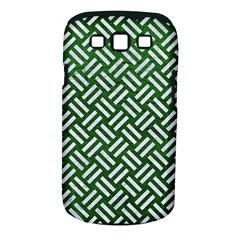 Woven2 White Marble & Green Leather Samsung Galaxy S Iii Classic Hardshell Case (pc+silicone) by trendistuff