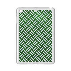 Woven2 White Marble & Green Leather Ipad Mini 2 Enamel Coated Cases by trendistuff