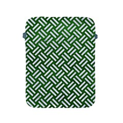 Woven2 White Marble & Green Leather Apple Ipad 2/3/4 Protective Soft Cases by trendistuff