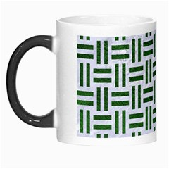 Woven1 White Marble & Green Leather (r) Morph Mugs by trendistuff