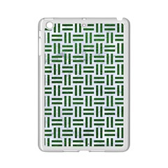 Woven1 White Marble & Green Leather (r) Ipad Mini 2 Enamel Coated Cases by trendistuff