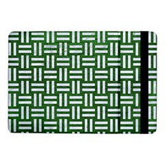 Woven1 White Marble & Green Leather Samsung Galaxy Tab Pro 10 1  Flip Case by trendistuff
