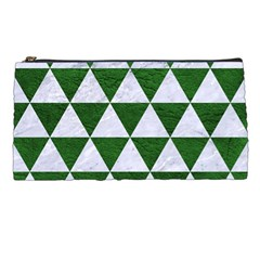 Triangle3 White Marble & Green Leather Pencil Cases by trendistuff