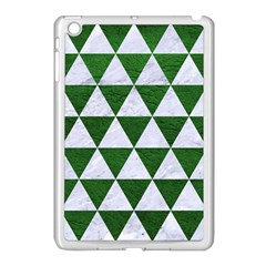 Triangle3 White Marble & Green Leather Apple Ipad Mini Case (white) by trendistuff