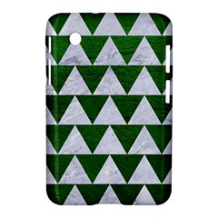 Triangle2 White Marble & Green Leather Samsung Galaxy Tab 2 (7 ) P3100 Hardshell Case