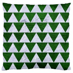 Triangle2 White Marble & Green Leather Standard Flano Cushion Case (one Side) by trendistuff