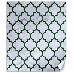Tile1 (r) White Marble & Green Leather Canvas 20  X 24   by trendistuff