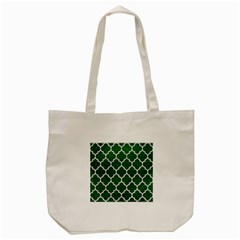 Tile1 White Marble & Green Leather Tote Bag (cream) by trendistuff