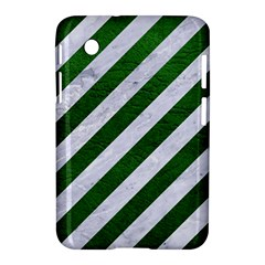 Stripes3 White Marble & Green Leather (r) Samsung Galaxy Tab 2 (7 ) P3100 Hardshell Case