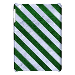 Stripes3 White Marble & Green Leather Apple Ipad Mini Hardshell Case by trendistuff
