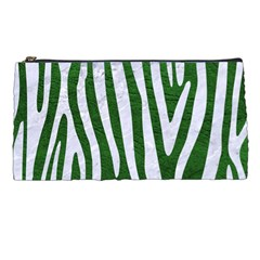 Skin4 White Marble & Green Leather (r) Pencil Cases by trendistuff