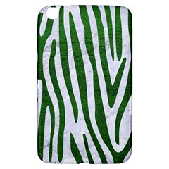 Skin4 White Marble & Green Leather Samsung Galaxy Tab 3 (8 ) T3100 Hardshell Case  by trendistuff