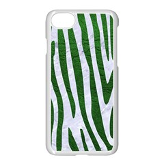 Skin4 White Marble & Green Leather Apple Iphone 8 Seamless Case (white) by trendistuff