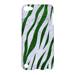 Skin3 White Marble & Green Leather (r) Apple Ipod Touch 5 Hardshell Case by trendistuff