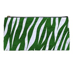 Skin3 White Marble & Green Leather Pencil Cases by trendistuff