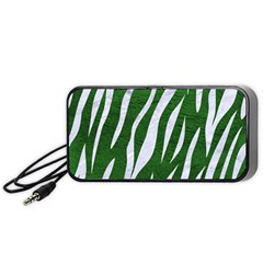 Skin3 White Marble & Green Leather Portable Speaker by trendistuff