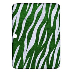 Skin3 White Marble & Green Leather Samsung Galaxy Tab 3 (10 1 ) P5200 Hardshell Case  by trendistuff