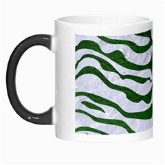 Skin2 White Marble & Green Leather (r) Morph Mugs by trendistuff