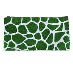 Skin1 White Marble & Green Leather (r) Pencil Cases by trendistuff