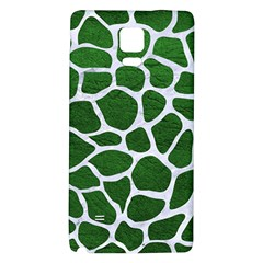 Skin1 White Marble & Green Leather (r) Samsung Note 4 Hardshell Back Case
