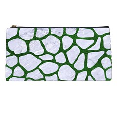 Skin1 White Marble & Green Leather Pencil Cases by trendistuff