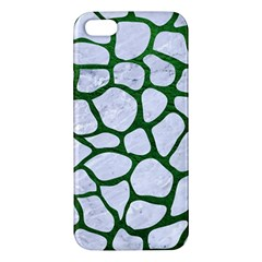 Skin1 White Marble & Green Leather Iphone 5s/ Se Premium Hardshell Case by trendistuff