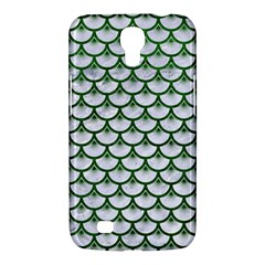 Scales3 White Marble & Green Leather (r) Samsung Galaxy Mega 6 3  I9200 Hardshell Case by trendistuff
