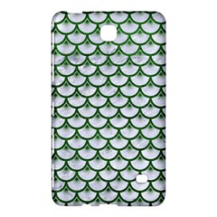 Scales3 White Marble & Green Leather (r) Samsung Galaxy Tab 4 (7 ) Hardshell Case  by trendistuff