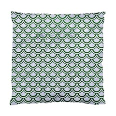 Scales2 White Marble & Green Leather (r) Standard Cushion Case (two Sides) by trendistuff