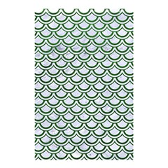 Scales2 White Marble & Green Leather (r) Shower Curtain 48  X 72  (small)  by trendistuff