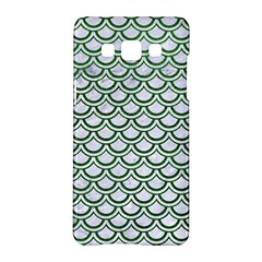 Scales2 White Marble & Green Leather (r) Samsung Galaxy A5 Hardshell Case  by trendistuff