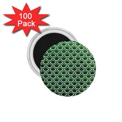 Scales2 White Marble & Green Leather 1 75  Magnets (100 Pack)  by trendistuff