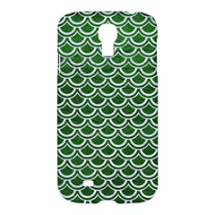 Scales2 White Marble & Green Leather Samsung Galaxy S4 I9500/i9505 Hardshell Case by trendistuff