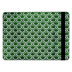 Scales2 White Marble & Green Leather Samsung Galaxy Tab Pro 12 2  Flip Case by trendistuff