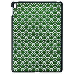 Scales2 White Marble & Green Leather Apple Ipad Pro 9 7   Black Seamless Case by trendistuff