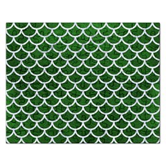 Scales1 White Marble & Green Leather Rectangular Jigsaw Puzzl