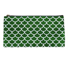 Scales1 White Marble & Green Leather Pencil Cases by trendistuff