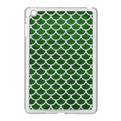 Scales1 White Marble & Green Leather Apple Ipad Mini Case (white) by trendistuff