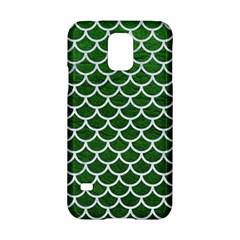 Scales1 White Marble & Green Leather Samsung Galaxy S5 Hardshell Case  by trendistuff