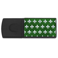 Royal1 White Marble & Green Leather (r) Rectangular Usb Flash Drive by trendistuff