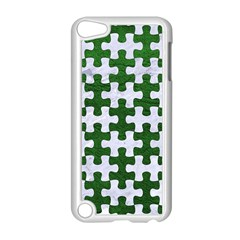 Puzzle1 White Marble & Green Leather Apple Ipod Touch 5 Case (white) by trendistuff