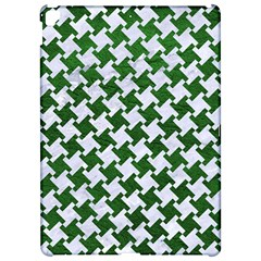 Houndstooth2 White Marble & Green Leather Apple Ipad Pro 12 9   Hardshell Case by trendistuff