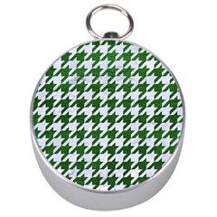 Houndstooth1 White Marble & Green Leather Silver Compasses by trendistuff