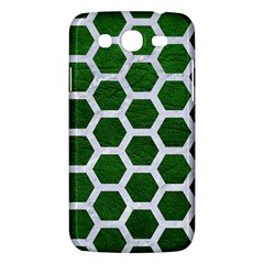 Hexagon2 White Marble & Green Leather Samsung Galaxy Mega 5 8 I9152 Hardshell Case  by trendistuff