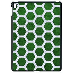 Hexagon2 White Marble & Green Leather Apple Ipad Pro 9 7   Black Seamless Case by trendistuff