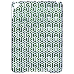 Hexagon1 White Marble & Green Leather (r) Apple Ipad Pro 9 7   Hardshell Case by trendistuff