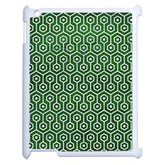 Hexagon1 White Marble & Green Leather Apple Ipad 2 Case (white) by trendistuff