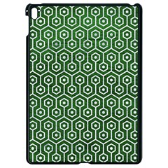 Hexagon1 White Marble & Green Leather Apple Ipad Pro 9 7   Black Seamless Case by trendistuff