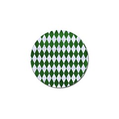 Diamond1 White Marble & Green Leather Golf Ball Marker (4 Pack) by trendistuff