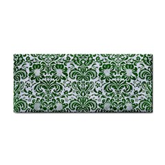 Damask2 White Marble & Green Leather (r) Hand Towel by trendistuff